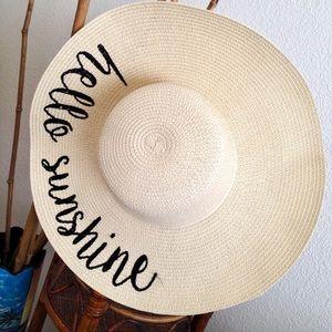 "◾️️NWOT | Floppy Beach Sun Hat ""Hello Sunshine!◾️"